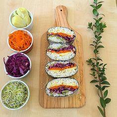 Vegan Onigarazu Canned Carrots, Food Ethics, Broccoli Sprouts, Feel Good Food, Oriental Food, Sin Gluten, Artichoke, Healthy Choices, Sushi