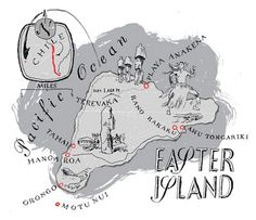 Rapa Nui (Easter Island), Chile Map