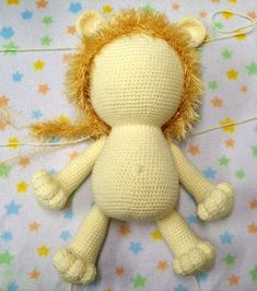 Tejidos Thina: LEÓN AMIGURUMI PATRÓN GRATIS Lions, Crochet Baby, Needlework, Free Pattern, Projects To Try, Teddy Bear, Kitty, Dolls, Sewing