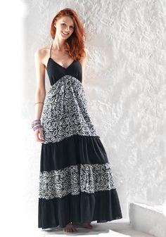 KALE letní maxi šaty - fair trade oblečení z biobavlny, bambusu, konopí, modalu, tencelu a merino, přírodní kosmetika, bambucké máslo, fairtrade bytové doplňky