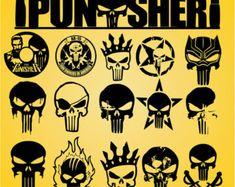 Punisher Tattoo, Punisher Skull, Vector Art, Eps Vector, Vectors, Action Icon, Jeep Decals, Skull Design, Vinyl Cutter