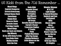 US kids from the 70's remember...