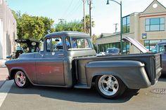 57 Chevy Trucks, Vintage Chevy Trucks, Classic Chevy Trucks, Hot Rod Trucks, Gm Trucks, Chevy Pickups, Jeep Truck, Cool Trucks, Pickup Trucks