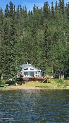 MLS #: 18-10359 Price: $170,000 Crosswind B&B is FOR SALE! This turn-key property includes a main house w 2BR/1BA & a small cabin that is used for guests. Both fully furnished w/extras like 3 boats & a 4-wheeler. Water is pumped from the lake to a storage tank and pressure tank. Solar/Inverter electric, crib foundation w/no permafrost! Winter access from Lake Louise or Tolsona Lodge, 23 miles by snowmachine. Lake Louise Lodge, Alaskan Cabins, House Information, Solar Inverter, Vacant Land, Waterfront Property, Property Search, Maine House, B & B