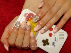 pink and grey rhinestones