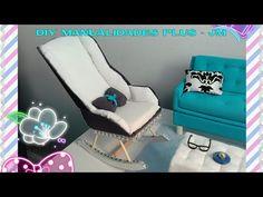 DIY Cómo Hacer Miniatura de Un Sofa Para Barbie y Otras Muñecas House Toy - YouTube Barbie Furniture Tutorial, Diy Barbie Furniture, Cute Furniture, Barbie Dolls Diy, Barbie Clothes, Baby Dolls, Doll House Crafts, Doll Crafts, Miniature Dollhouse Furniture