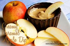 Cream Caramel Apple Dip. Super easy and so tasty.  From www.TheCraftingChicks.com