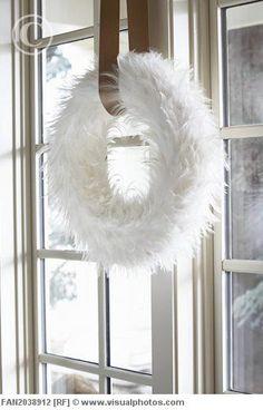 Fuzzy White WReath