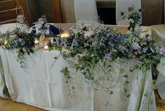 グリーンいっぱい草花いっぱいのウェディング装花  #ウェディング #wedding #パーティー  #高砂 #会場装花 #フラワーコーディネート #装飾 #レストランウエディング #キャンドル #イニシャル #ナチュラル #グレイッシュ