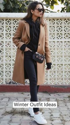Classy Winter Outfits, Winter Outfits Women, Winter Coats Women, Winter Fashion Outfits, Casual Outfits, Boho Outfits, Fall Fashion, Peacoat Outfit, Camel Coat Outfit