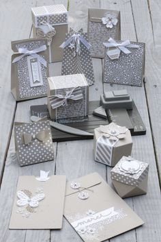 Beautiful Stampin Up neutrals and Kraft monochromatic box and packaging range