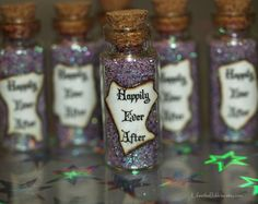 Happily Ever After magical Wedding Favors Fairy Tale Wedding Disney Inspired Color Options by Life is the Bubbles this is cool we could do it silver and BLUE! Halloween Wedding Favors, Disney Wedding Favors, Disney Inspired Wedding, Unique Wedding Favors, Trendy Wedding, Perfect Wedding, Our Wedding, Dream Wedding, Disney Weddings