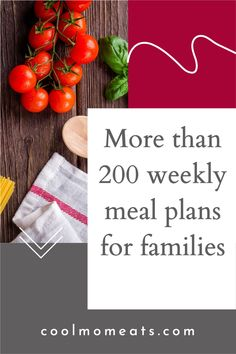 Meal planning help for families: Browse more than 200 meal plans to make family dinner easier, including ideas for one-pot dinners, Instant Pots and slow cookers, vegan and vegetarian ideas, feeding picky kids and more! CoolMomEats.com | #mealplanning #familydinner #dinnerideas #dinnerrecipes
