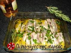Great recipe for Maria's marinated gavros. A recipe for marinated gavros (anchovies), a delicious meze for ouzo as well as an appetizer for a meal. Recipe by Greek Recipes, Fish Recipes, Easy Cooking, Cooking Recipes, Cooking Fish, How To Cook Fish, Recipe Images, Sweets Recipes, Fish And Seafood