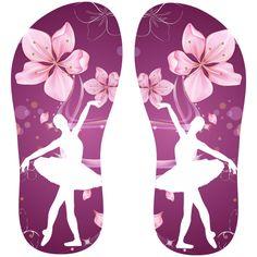 Estampa para chinelo Ballet 001218