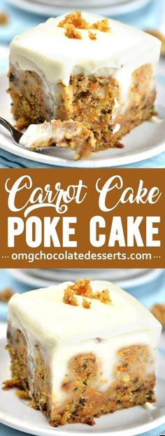 Want a seriously decadent Carrot Cake Poke Cake recipe that you nor anyone else will ever forget? This nostalgic twist on traditional carrot cake is just in time for Easter. Chocolate Peanut Butter Ooey Gooey Butter Cake No Bake Strawberry Cheesecake Poke Cake Recipes, Best Cake Recipes, Dessert Recipes, Baking Desserts, Recipes Dinner, Carrot Cake Recipes, Delicious Desserts, Cupcakes, Cake Mix Cookies