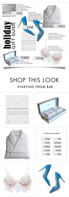 """""""Best gifts for best friends"""" by fenito ❤ liked on Polyvore featuring Dogeared, Chanel, Linum Home Textiles, For Love & Lemons and Loeffler Randall"""