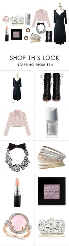 """""""Bling in the New Year"""" by karina-dresses ❤ liked on Polyvore featuring GALA, Gianvito Rossi, Bebe, Christian Dior, J.Crew, Topshop, MAC Cosmetics, Bobbi Brown Cosmetics, Allurez and Givenchy"""