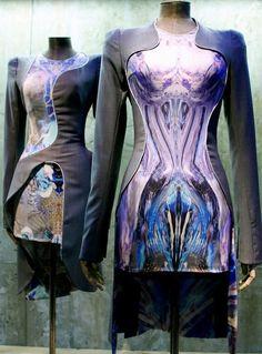 (Futuristic Fashion | Alexander McQueen  psychedelic dress)