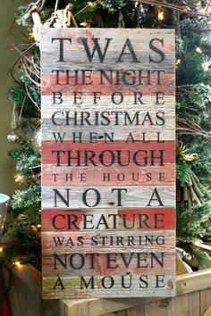Twas the Night Before Christmas Barnwood Sign