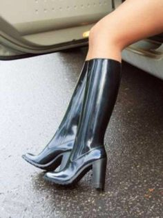 277 best photoblonde woman wearing dunlop rubber boots