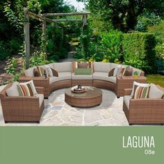 TKC Laguna 8 Piece Outdoor Wicker Patio Furniture Set ** This is an Amazon Associate's Pin. Clicking on the VISIT button will lead you to find the item on Amazon website.