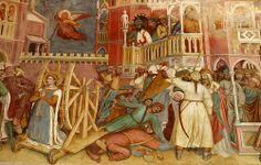 Saint Catherine submitted to torture, Altichiero da Zevio Oratorio di San Giorgio Padova     ALTICHIERO DA ZEVIO (Zevio, 1330 circa – Verona, 1390 circa)    #TuscanyAgriturismoGiratola