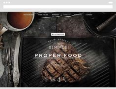 Blackhouse - Restaurant Website Design