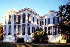 Nottoway Plantation at one time consisted of 6,200 acres. She was built in 1858 by John Randolph. Within the house are 64 rooms, 7 staircases and 5 galleries. Nottoway survived the Civil War but, was damaged by a Union Gunboat attack. The Officer in charge Stopped the attack when he realized he had once been a Guest there!