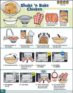 Look 'n Cook Microwave Recipe page