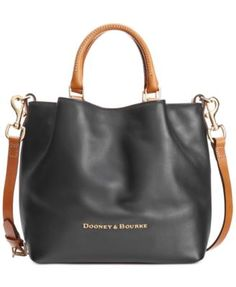 """Go from weekday to weekend with ease with Dooney & Bourke's simple city Barlow tote, crafted in smooth matte leather for a refined look. 
