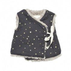 talc baby cache coeur (gold stars and dark grey)