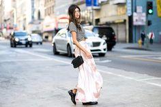 Maxi Skirt + Tee Midi Skirt, Sequin Skirt, Converse, Amanda, Sequins, Loafers, Tees, Skirts, Pants