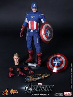 Captain America-Avengers movie Cap from Hot Toys. Hotcha!