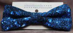 SPACE blue bow bow tie / hair bow by AbandonedWarehouse on Etsy Bow Tie Hair, Bow Bow, Hair Bows, Star Trek, Space, Blue, Etsy, Hair Ties, Display
