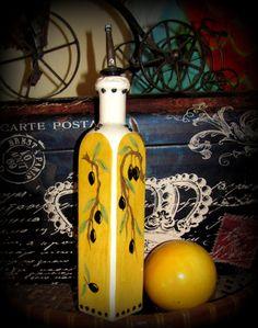 Striking handmade Olive Oil Bottle / Decanter by BajaGypsy on Etsy