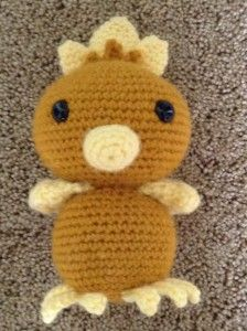 Pokemon Amigurumi Torchic with free pattern