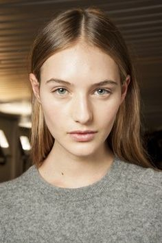 """SS 2015 - The Off-Centre Parting  ChloeIn keeping with the season's trend for """"real"""" beauty, partings were worn neither neatly at one side nor precisely in the centre - rather they were ever so slightly askew at the likes of Jonathan Saunders, Christian Dior, Chloé and Roberto Cavalli for a more natural feel."""