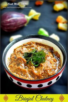 """How do you finish off those 1 or 2 brinjals sitting in your fridge ? I normally do brinjal raita,brinjal gojju or brinjal chutney from it .Today i have for you all one excellent side dish from roasted brinjal which tastes great with anything and everything. If you are looking for some new chutney variety to go along with your idli,dosa,rotti or rice you must try this """" Brinjal Chutney / Baingan Chutney """". They are just yumm.. Like baingan bharta, this recipe calls for roasting the eggplant…"""