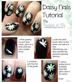 DASIES-picture step by step Nail art design