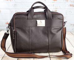 Pasta masculina executiva em couro legítimo - Enluaze - Bolsas, mochilas, roupas e acessórios