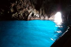 The Blue Grotto - sea cave on the coast of the island of Capri, Italy
