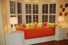 Love this!  Add a built in seating area to bay window - great for a reading nook!
