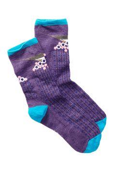 Charley Harper Bird On Cactus Crew Socks