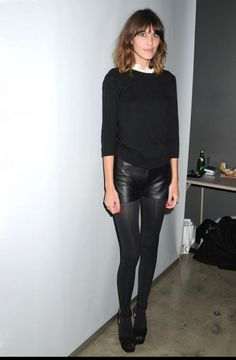 Perfect! Tights & leather shorts