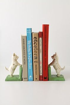 Love these cute bookends and how they add some character to a room.