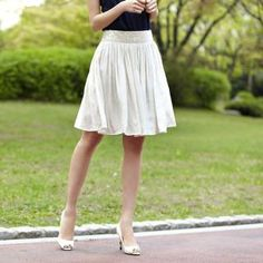 Wardrobe: pleated A line skirt