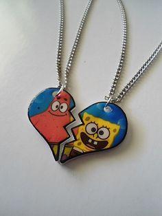 Spongebob and Patrick BFF Necklaces | Asbestos Accessories | spongebob and patrick bf necklaces | Online ...