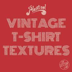 Plastisol: Vintage T-Shirt Textures - TheVectorLab