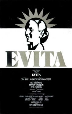 Broadway Posters, Broadway Theatre, Musical Theatre, Broadway Shows, Movie Posters, Theatre Posters, Broadway Plays, Evita Musical, Theater